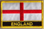 England Embroidered Flag Patch, style 09.
